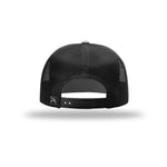 American Crafted Leather - 7-Panel Trucker - Heather Grey & Black