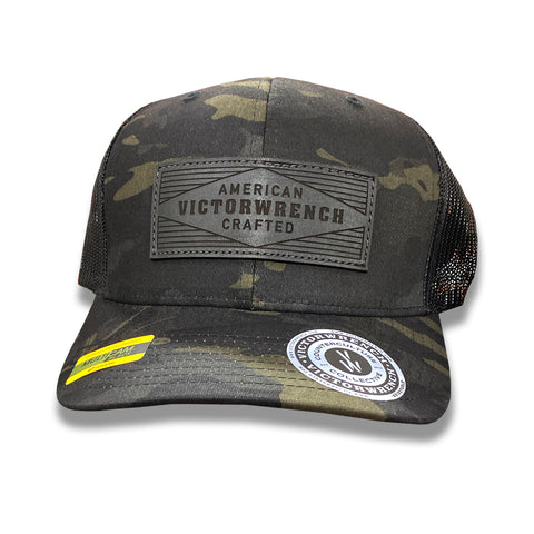 American Crafted Leather - Trucker - Multicam Black