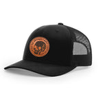 Bridge Burner Leather - Low-Pro Trucker Snapback - Black & Black