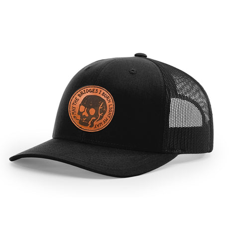 Bridge Burner Leather - Low-Pro Trucker Snapback