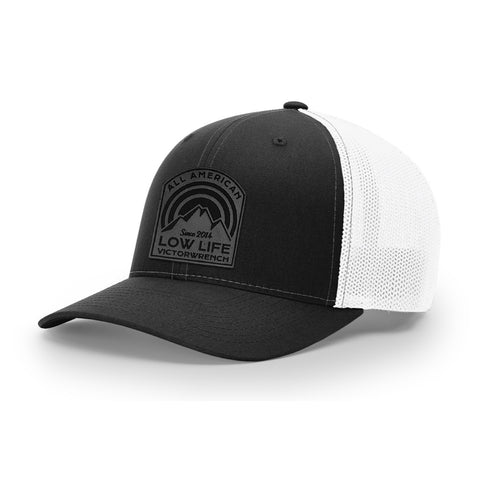 Low Life Leather - Trucker Flex-Fit - Black & White