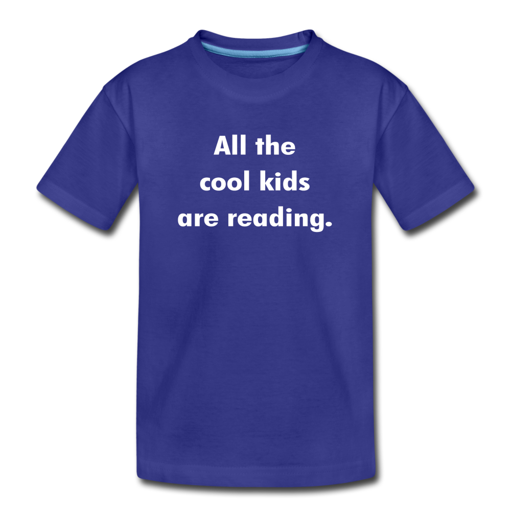 All The Cool Kids Are Reading - royal blue