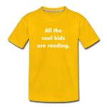 All The Cool Kids Are Reading - sun yellow