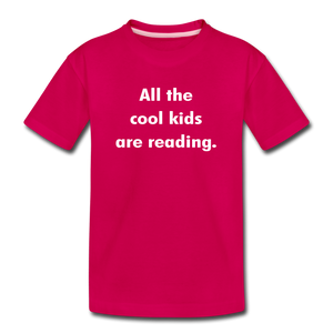 All The Cool Kids Are Reading - dark pink