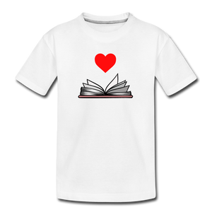 I Heart Reading - white