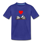 I Heart Reading - royal blue
