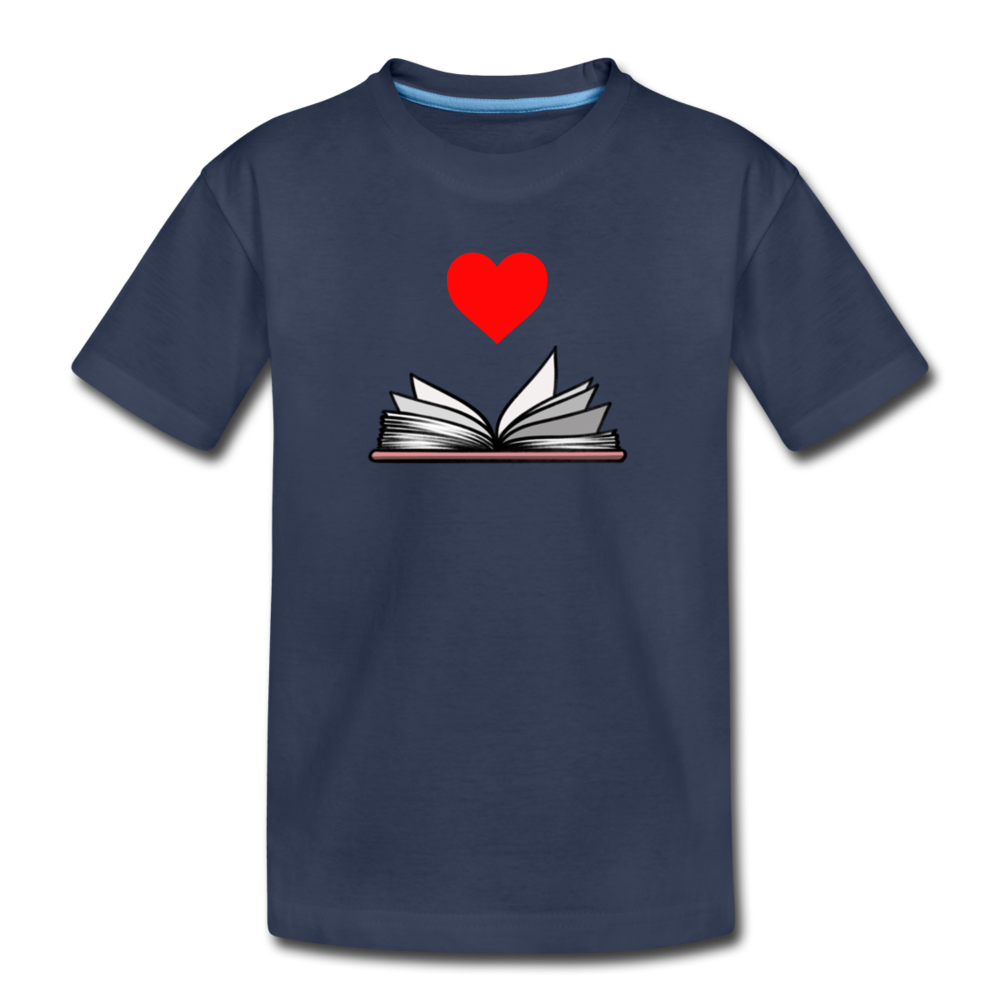 I Heart Reading - navy