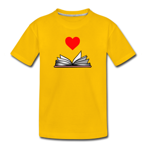 I Heart Reading - sun yellow