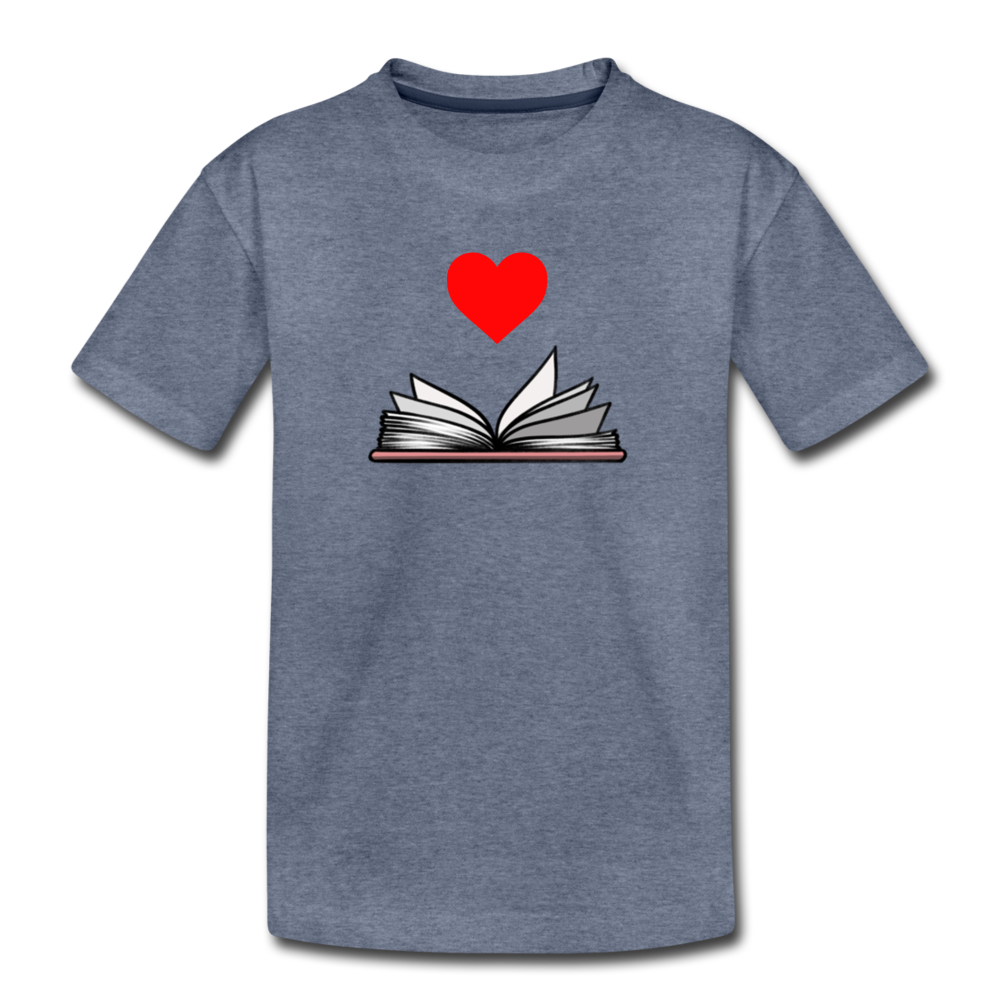 I Heart Reading - heather blue