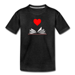 I Heart Reading - charcoal gray