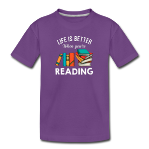Life Is Better When You're Reading - purple