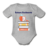 Future Bookworm Onesie - heather gray