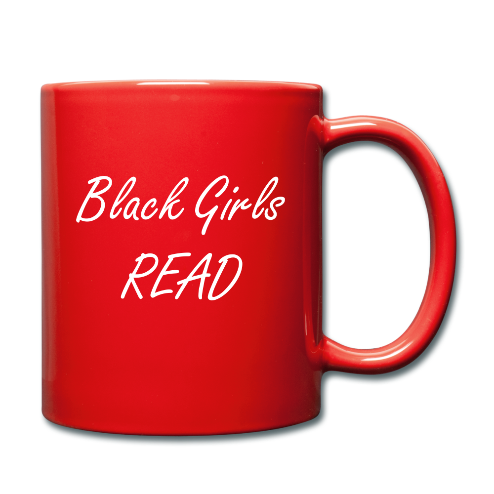Black Girls Read Mug - red