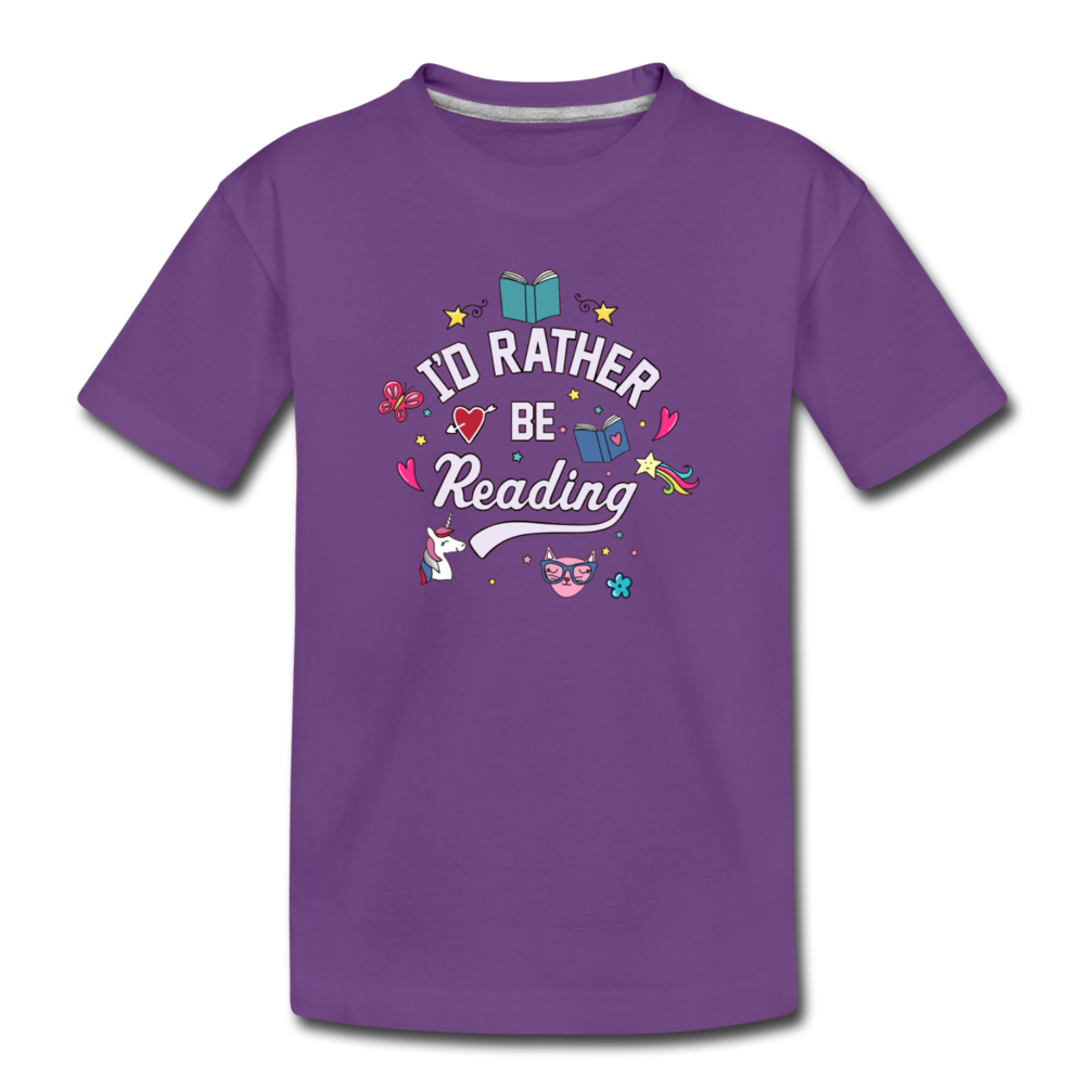 I'd Rather Be Reading - purple