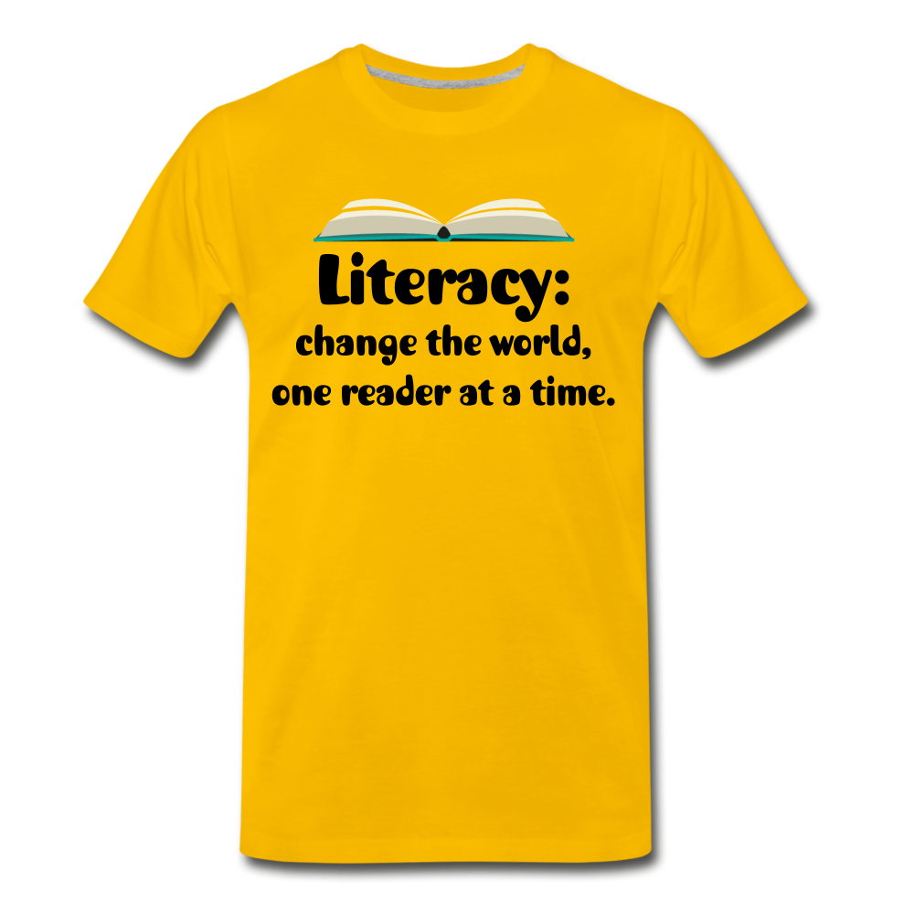 Literacy T-Shirt (Unisex) - sun yellow