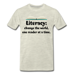 Literacy T-Shirt (Unisex) - heather oatmeal