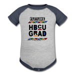 Baseball Baby Bodysuit - heather gray/navy