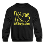 K is for Kindergarten Sweatshirt - black