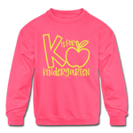 K is for Kindergarten Sweatshirt - neon pink