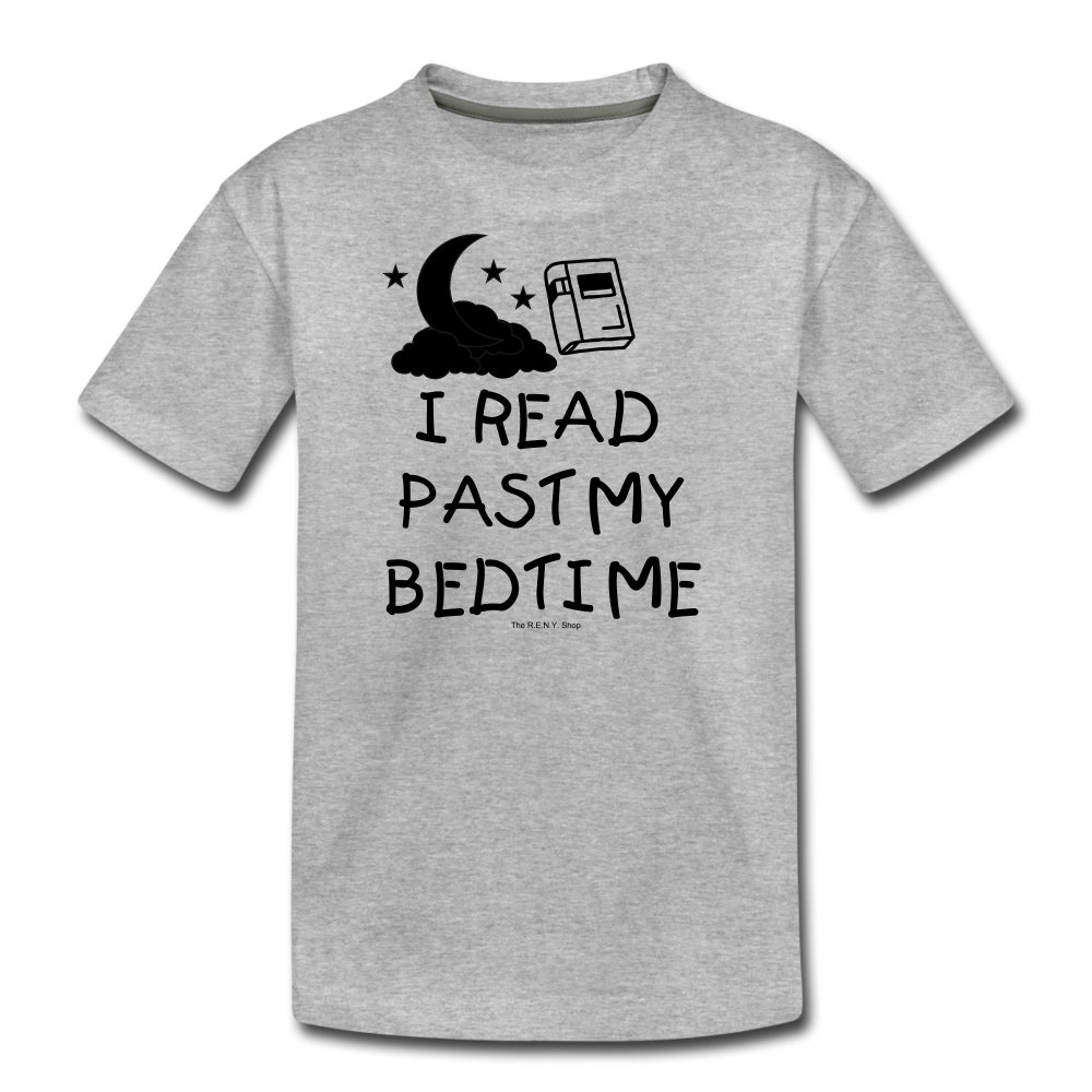 I Read Past My Bedtime - heather gray