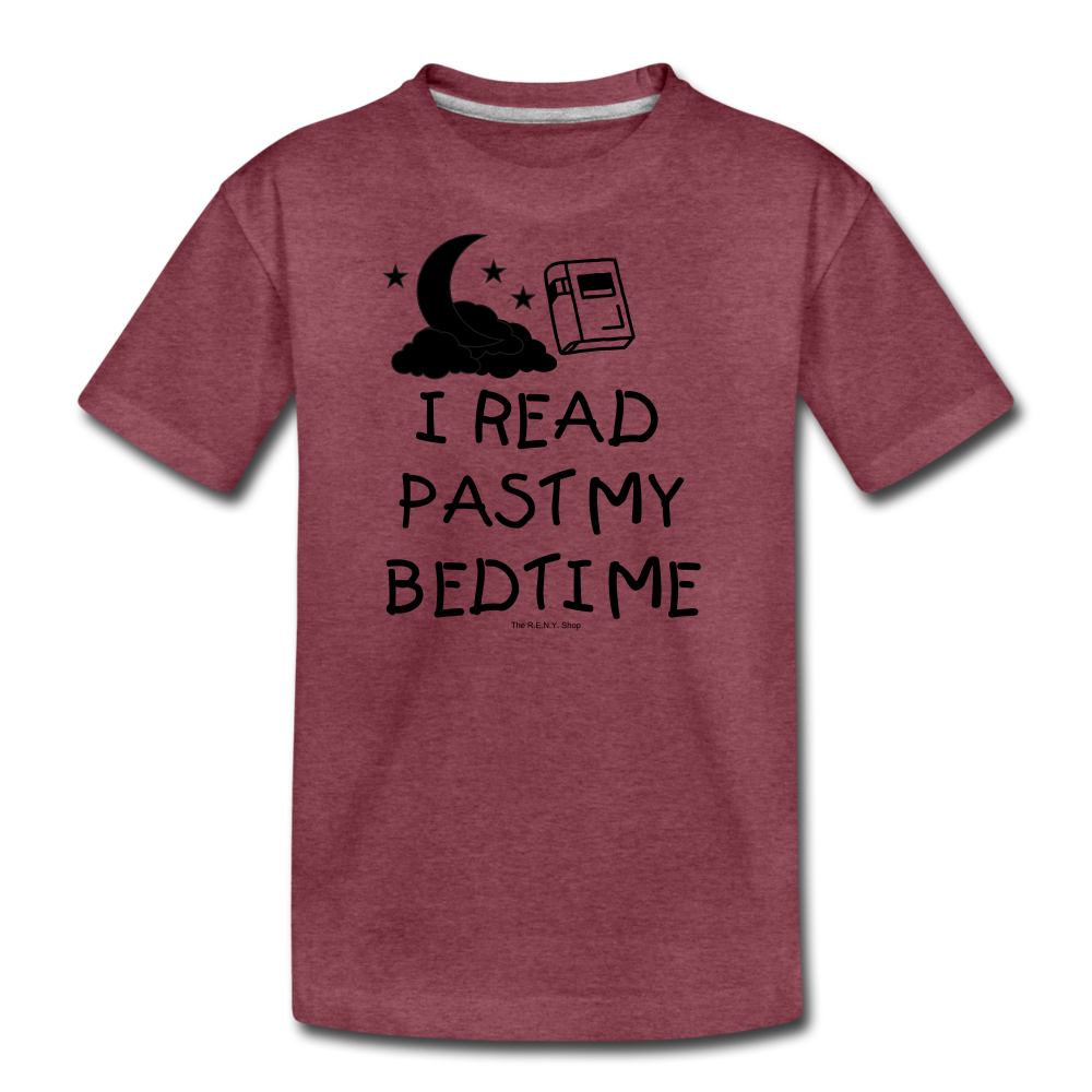 I Read Past My Bedtime - heather burgundy