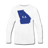 Turn Georgia Blue - white