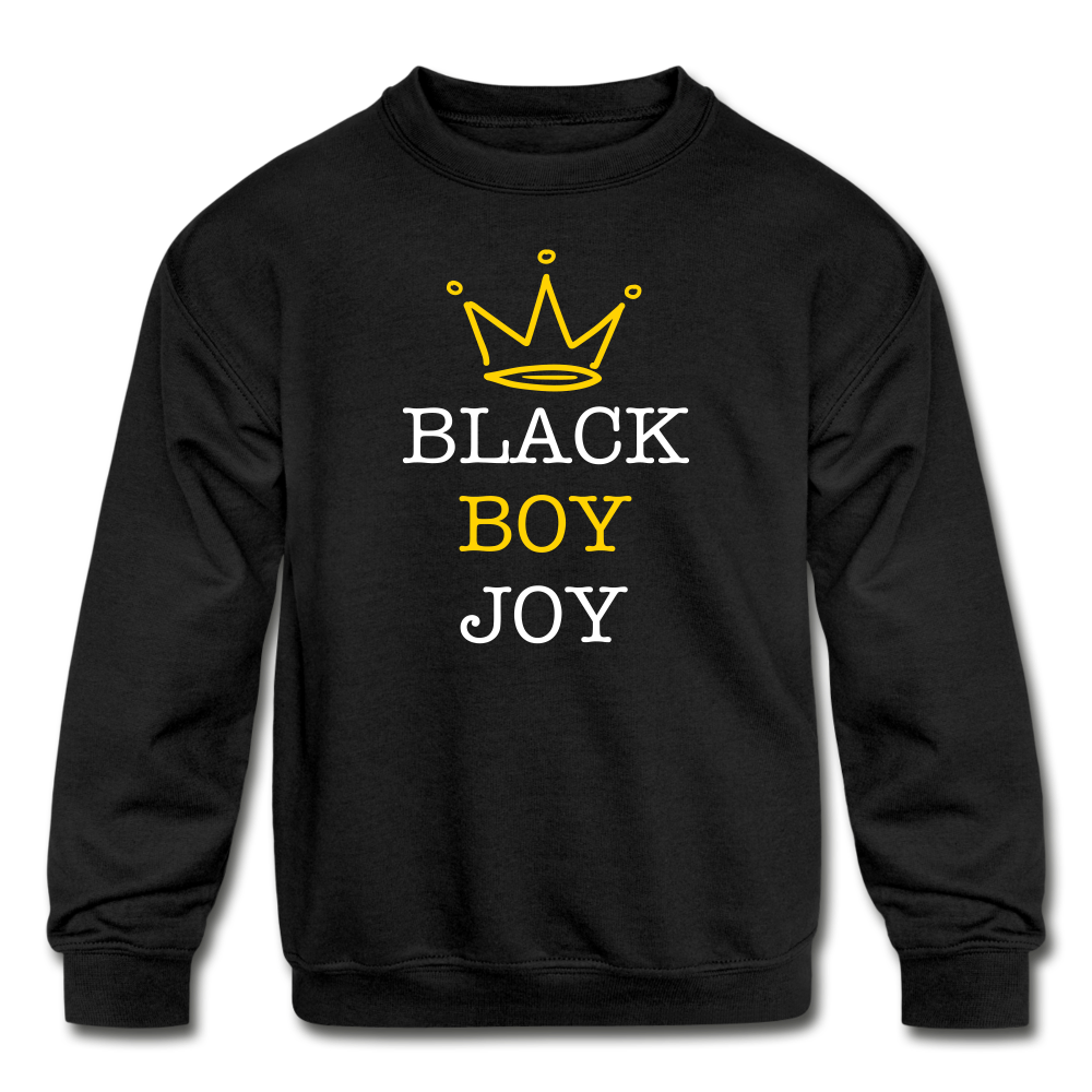 Black Boy Joy (Kid Crewneck) - black
