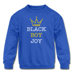 Black Boy Joy (Kid Crewneck) - royal blue