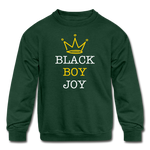 Black Boy Joy (Kid Crewneck) - forest green