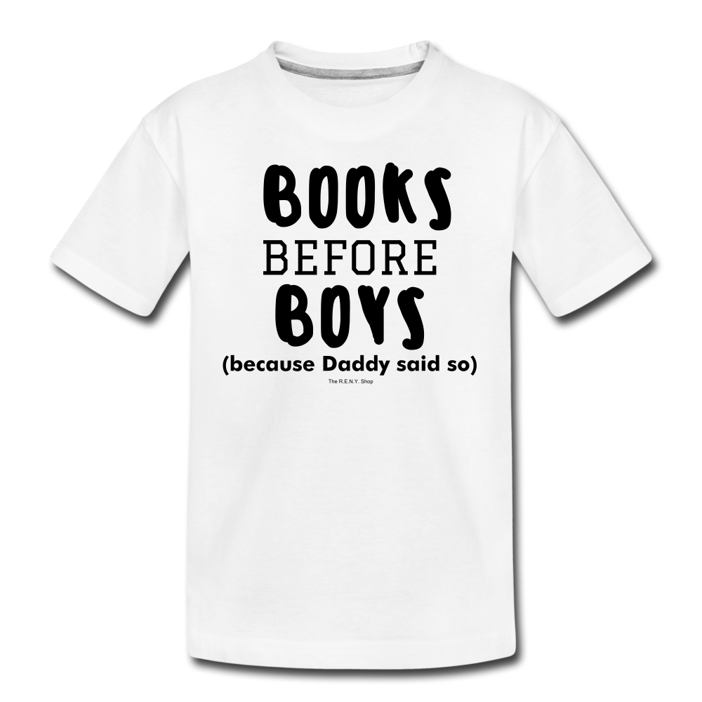 Books Before Boys - white