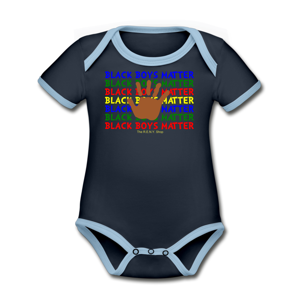 Black Boys Matter (Onesie) - navy/sky