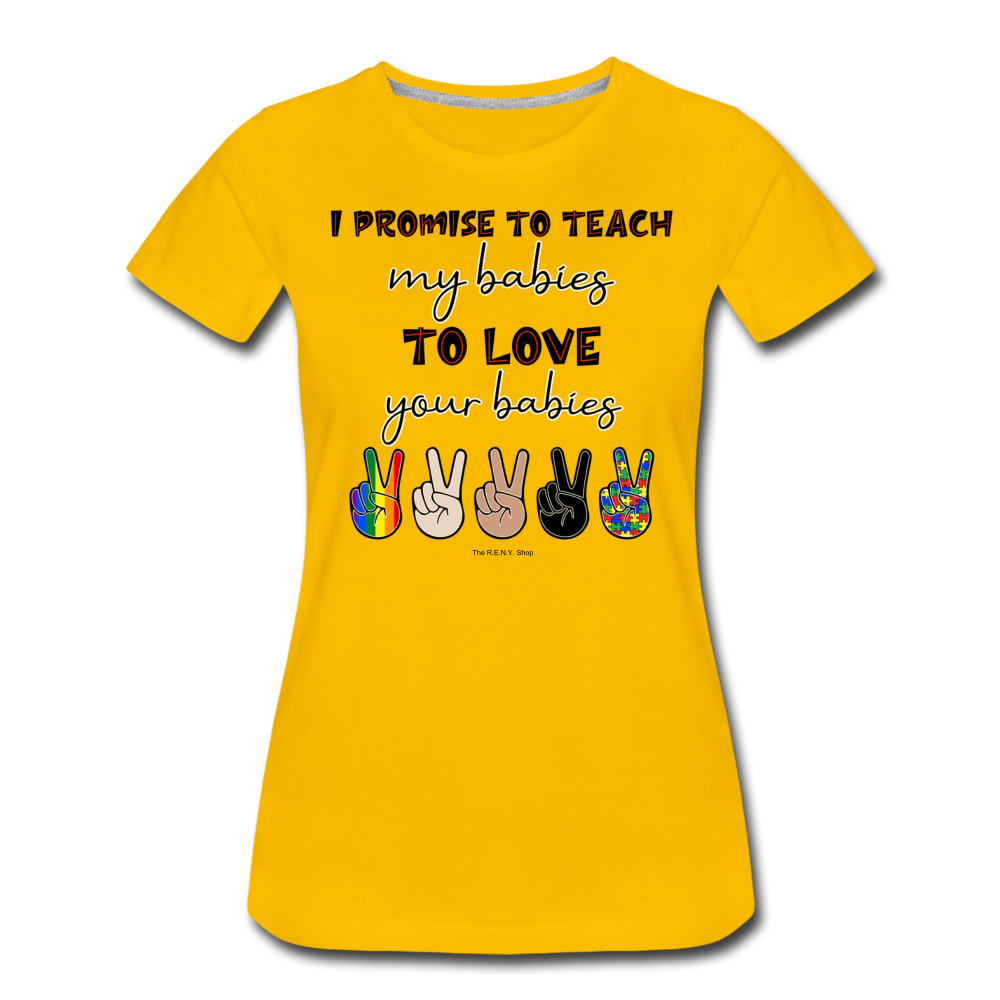I Promise (Women) T-shirt - sun yellow