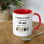 I Promise Mug - white/red