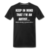 Artist Warning Shirt - black