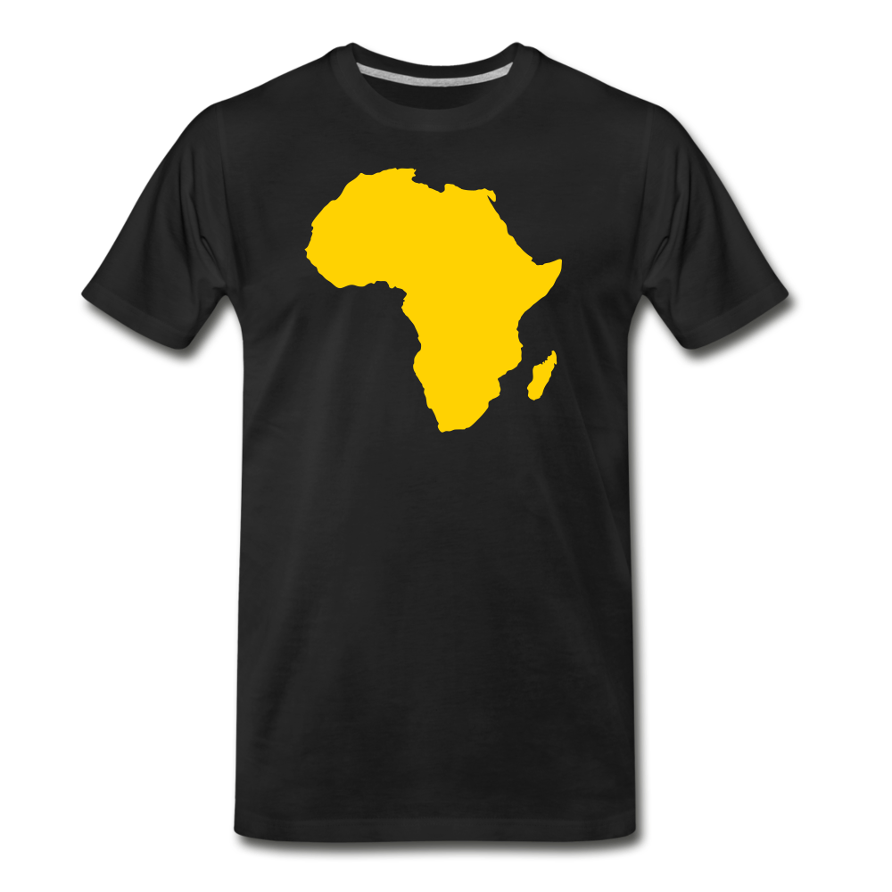 Golden Africa Map Shirt - black