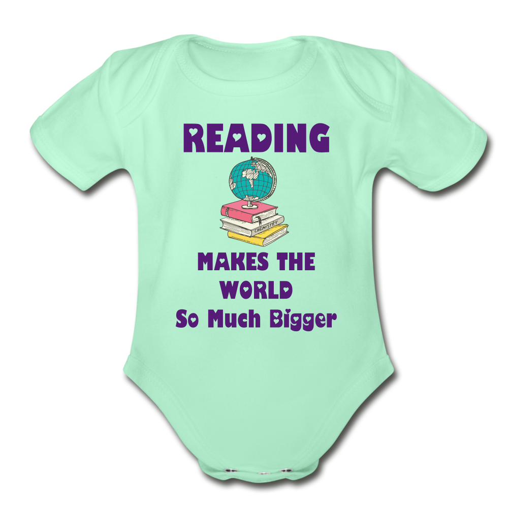 Bigger World Onesie - light mint