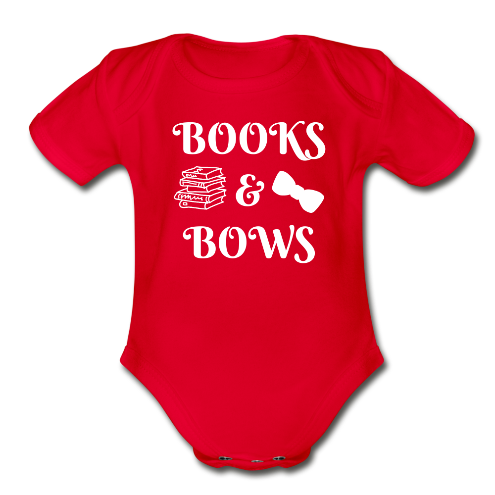 Books & Bows (onesie) - red