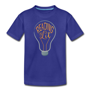 Reading Is Lit - royal blue