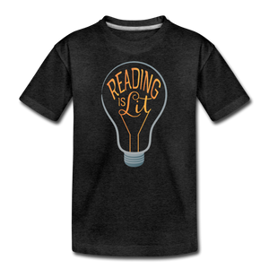 Reading Is Lit - charcoal gray