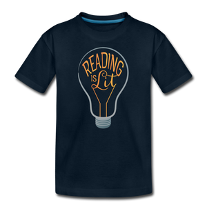 Reading Is Lit - deep navy