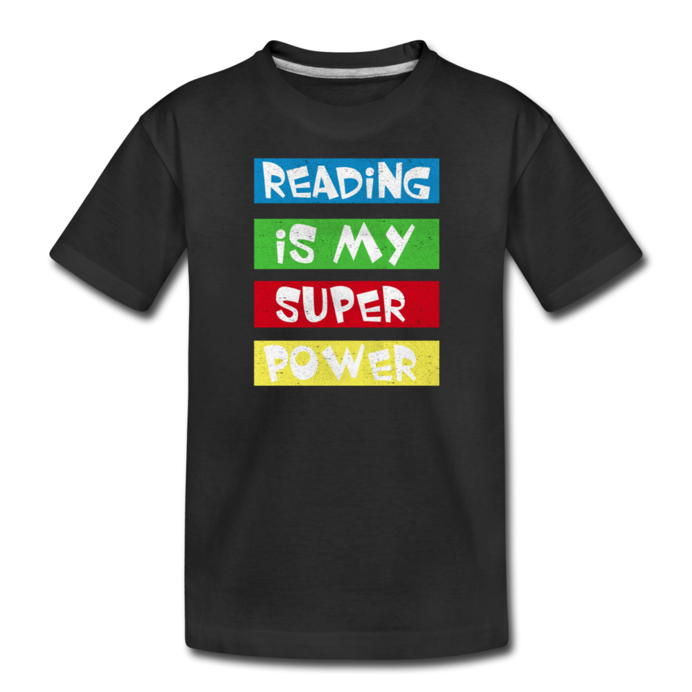 Reading Is My Super Power - black