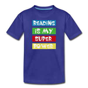 Reading Is My Super Power - royal blue