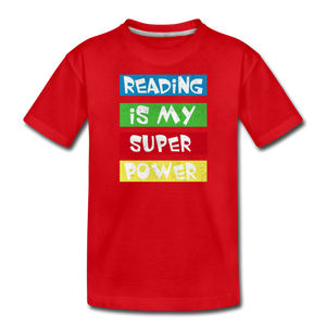 Reading Is My Super Power - red