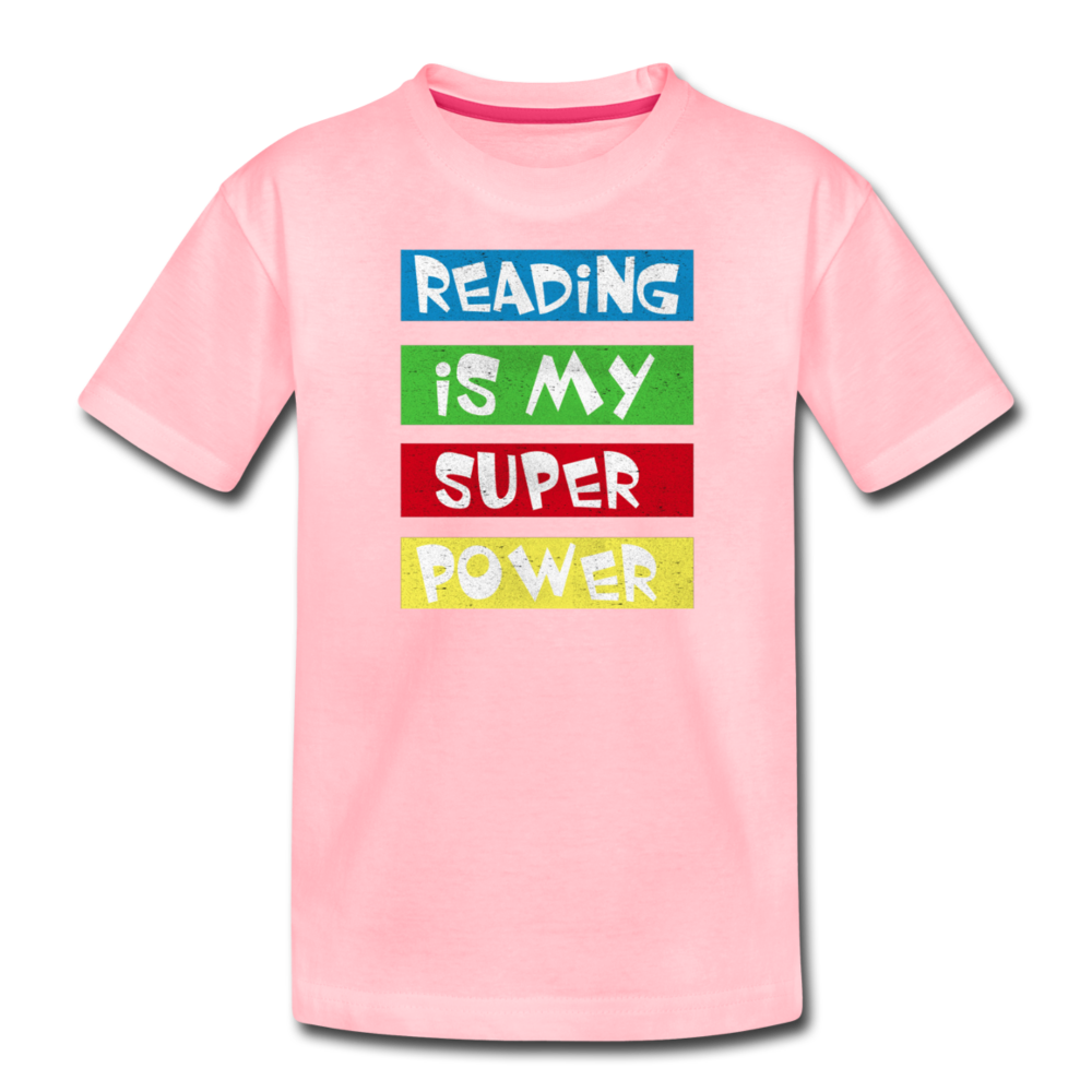 Reading Is My Super Power - pink