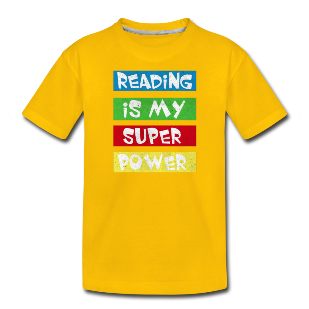 Reading Is My Super Power - sun yellow