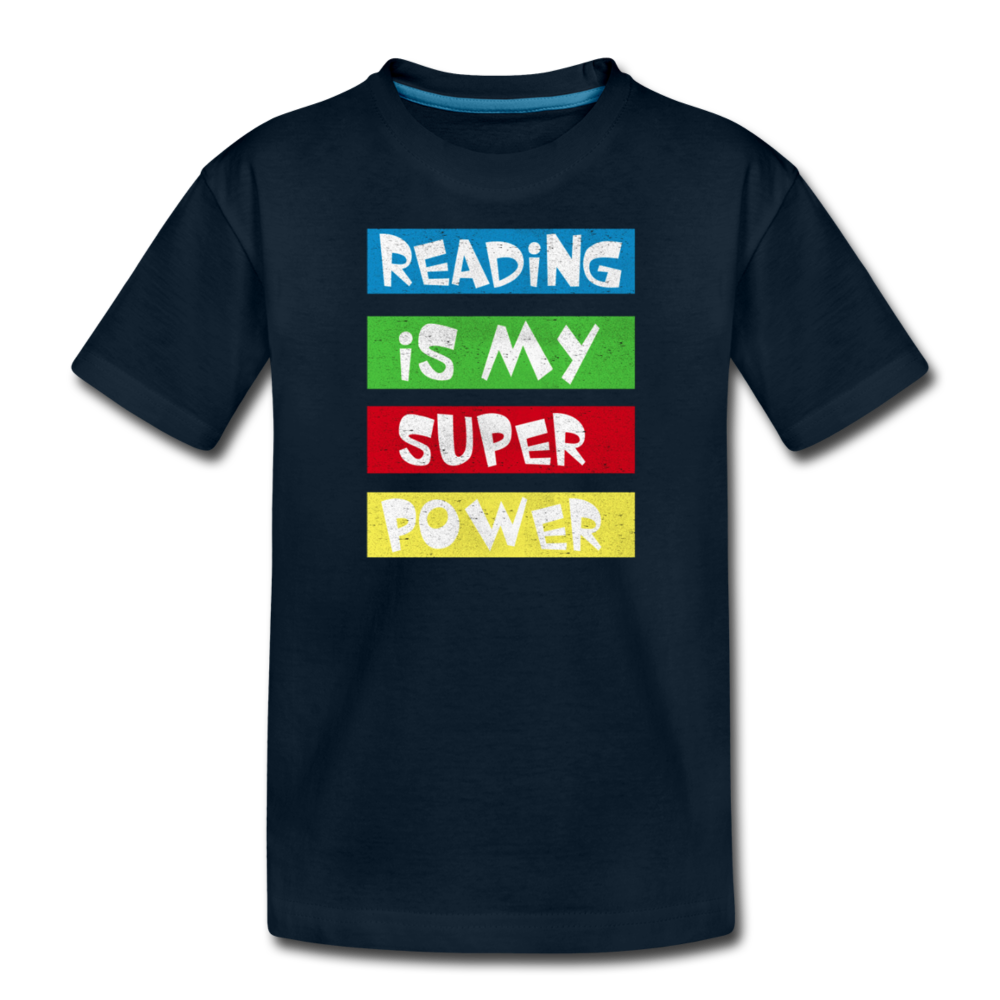 Reading Is My Super Power - deep navy