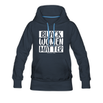 Black Women Matter Hoodie (Feminine Cut) - navy