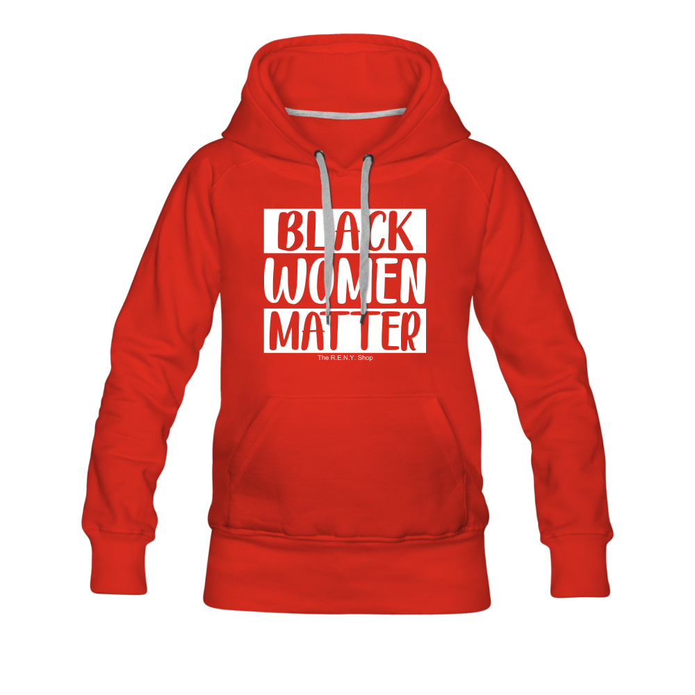 Black Women Matter Hoodie (Feminine Cut) - red