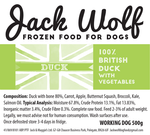 500g Jack Wolf - Working Dog - Duck