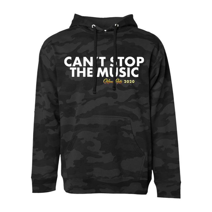 'Can't Stop The Music' Pullover Hoodie (Dark Camo) - California Roots Brand